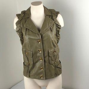 Gucci Leather Button-Up Vest